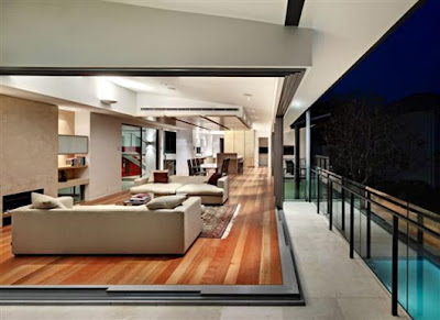 Luxury Home Design With Central Courtyard Decorating Living Room