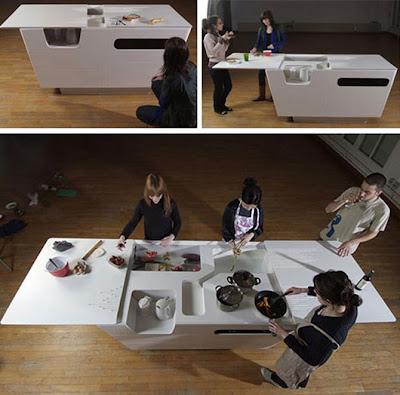 fold out contemporary kitchen island