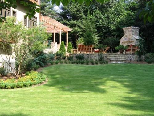 green garden home house environtment