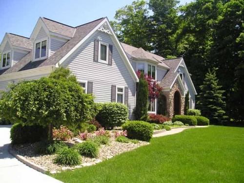 front landscape green house design