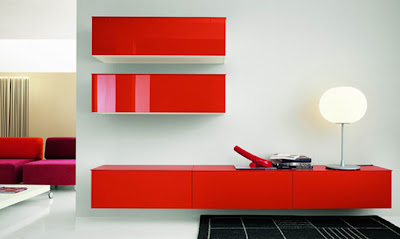 Modern Interior Design Furniture Sofa Red Style
