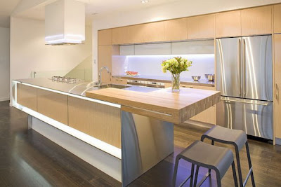 Nice Lighting Design of Kitchen Interiors