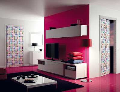 super modern colorful doors