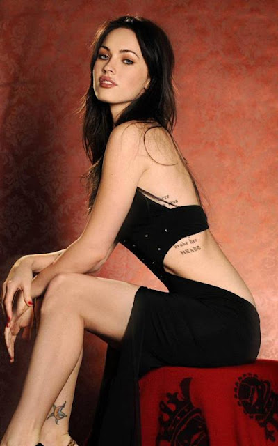 MEGAN FOX HOT PHOTOSHOOT PICS IN BLACK DRESS