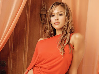 Famous Jessica Alba Orange Wallpapers