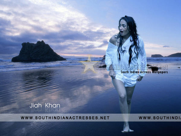 Beautiful Jiah Khan Posing at Beach