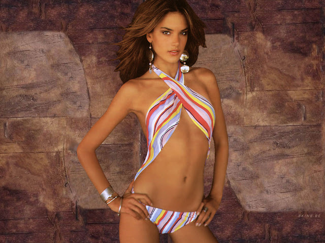 Sexy Alessandra Ambrosio Colorful Bikinis Photo Shoot
