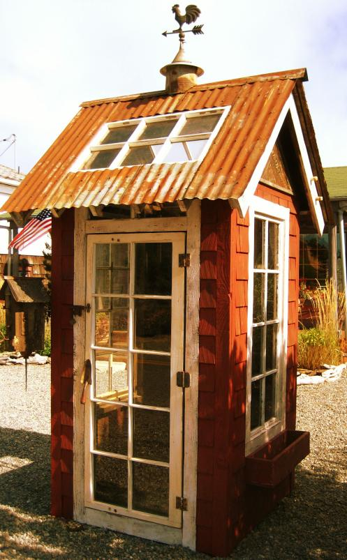 bob bowling custom creates sheds chicken coops greenhouses playhousesyou name it he makes them from reclaimed and recycled material - Garden Sheds From Recycled Materials