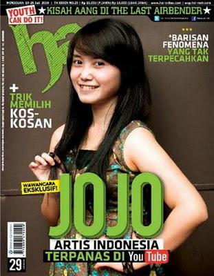 Jojo Keong Racun Jadi Cover Majalah Hai