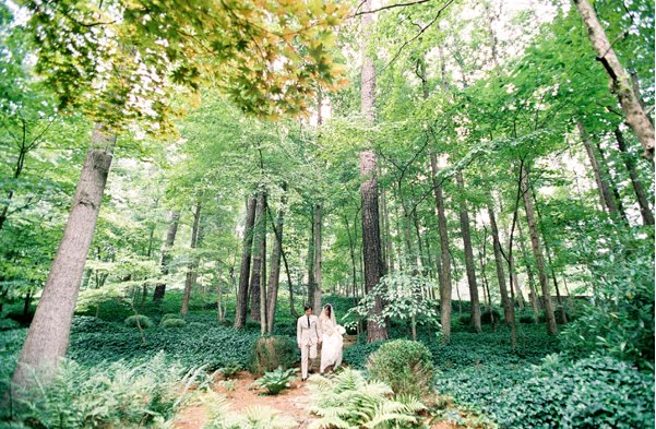 There is something about this forest wedding that appeals to me