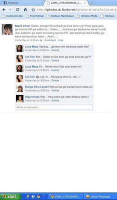 Percakapan Luna-Tari dan Ariel di Facebook seputar Video Bokep