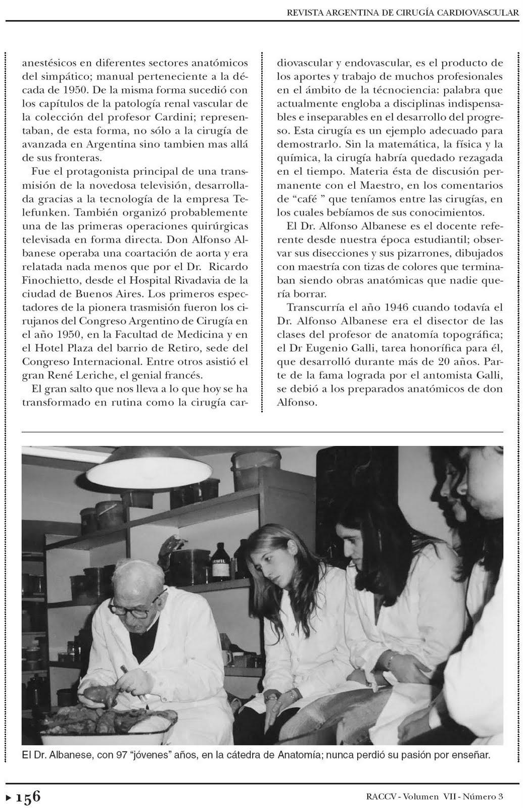 Trabajos de Investigación: DON ALFONSO ALBANESE, MAESTRO DE MAESTROS.