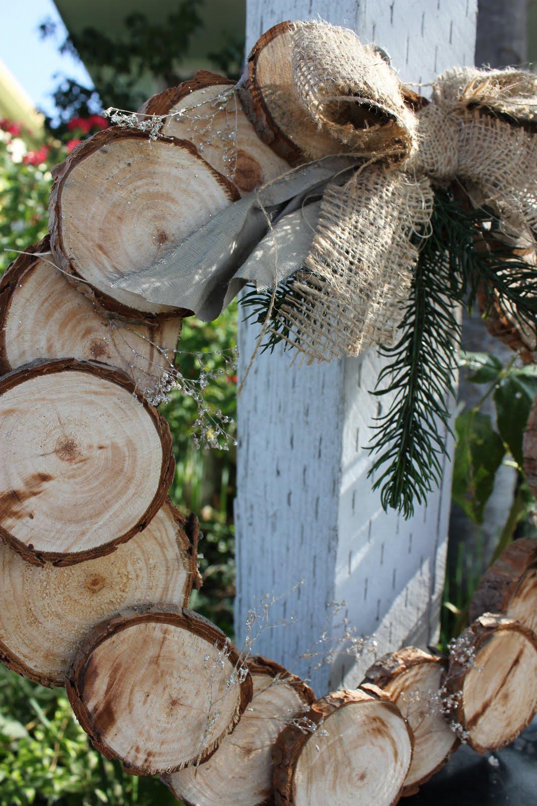 Lu bird baby a natural christmas birch wood wreath for Berch wood