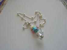 Collar con colgante de Plata y Cristal de Murano, hecho a mano.