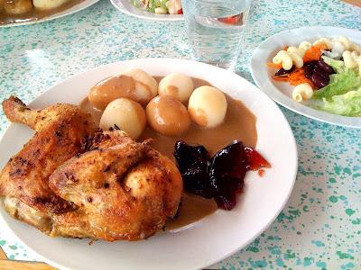 grillad kyckling med potatis