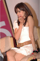 genelia hot thighs exposing on stage of katha audio launch