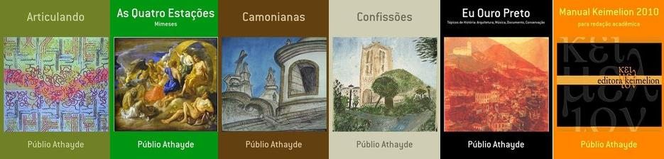 Alguns dos livros de Públio Athayde