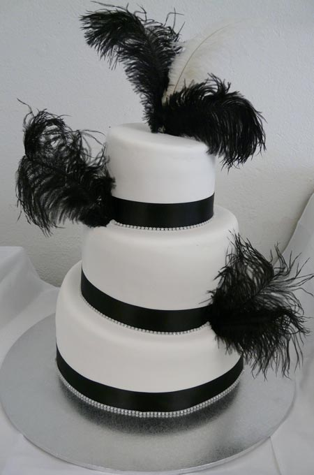 Wedding Cake Black And White Wedding