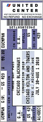 2010 Blackhawks Convention tickets…