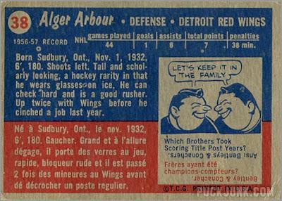 1957-58 Topps #38 – Al Arbour