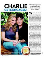 Charlie Sheen - huge radiant cut, yellow diamond engagement ring worth $550,000