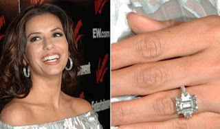 Original emerald cut diamond ring - Eva Longoria and Tony Parker
