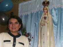 Thelmita y la virgen de Fatima