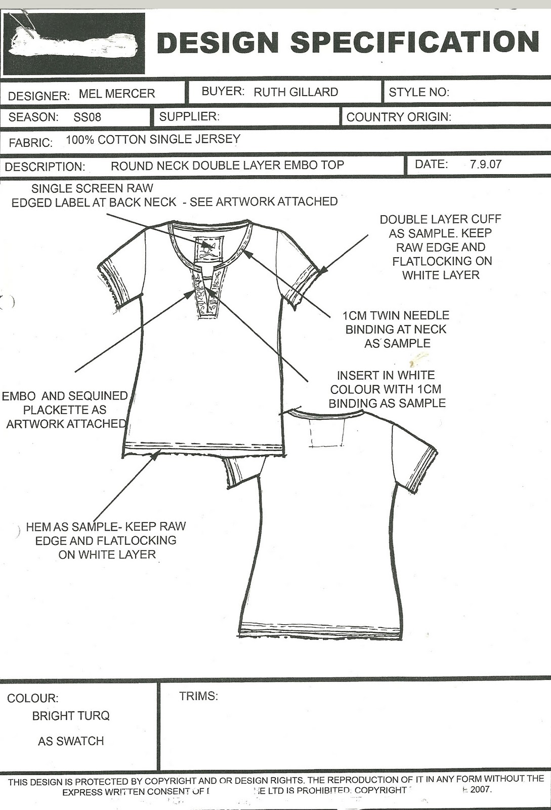 Fantastic Garment Spec Sheet Template Contemporary - Entry Level ...