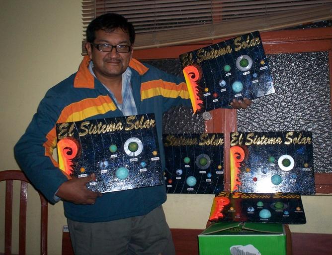 Maquetas Del Sistema Solar Con Sus Lunas