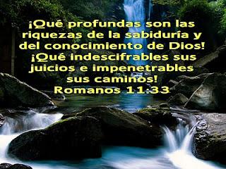 """Resultado de imagen de ROMANOS 11:33"""""""
