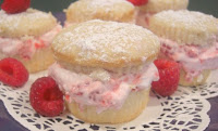 Raspberry Cream Cupcakes
