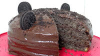 Oreo Cake with Chocolate Pan Frosting