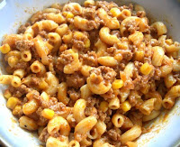 Skillet Chili Mac with Green Chilies and Corn