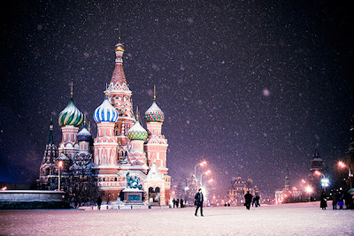Snowy Cathedral of StBasil