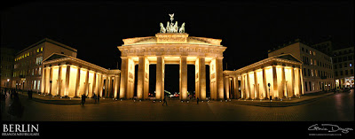 The Brandenburg Gate panoramic by Gdphotography