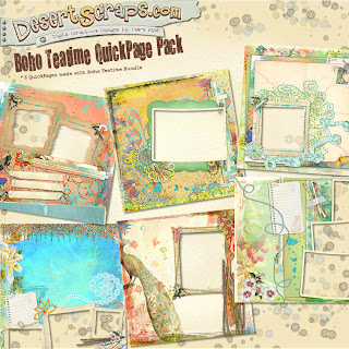 Quickpage pack from my Boho Teatime bundle by desertscraps Bohoteatimeqppack