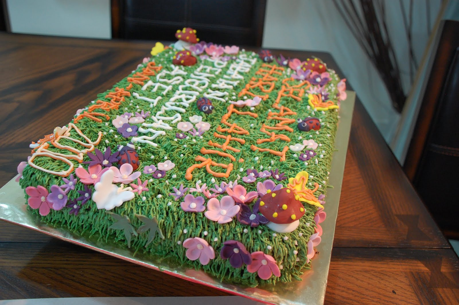 Garden themed cakes cake ideas and designs for Garden theme cake designs