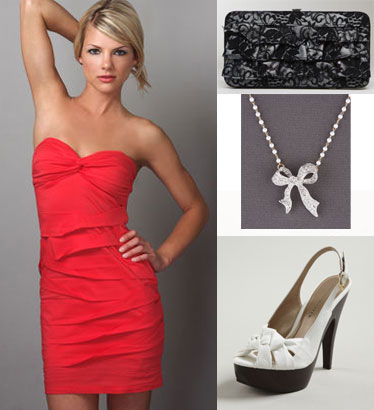Accessorizing red dresses