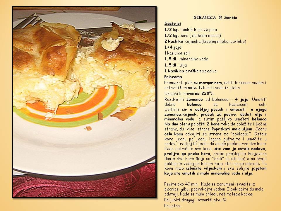 Recept --> Gibanica - klik na sliku