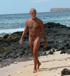 grandpa on the beach