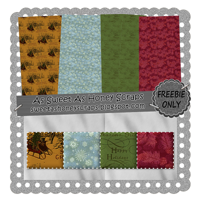 'Tis The Season Freebie Papers by As Sweet As Honey Scraps Freebie_11-19