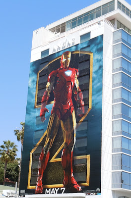 Iron Man 2 building billboard