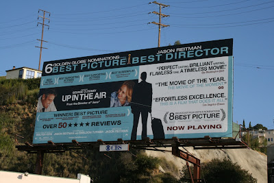 Up in the Air Golden Globe movie billboard