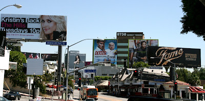 Billboards along Sunset Boulevard