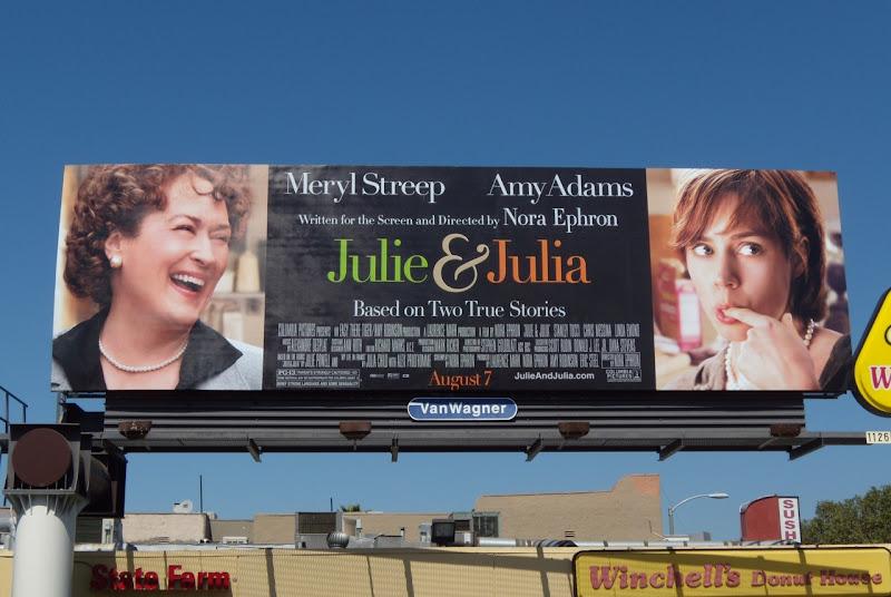 Julie and Julia movie billboard