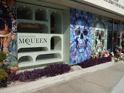 Alexander McQueen West Hollywood empty store widows