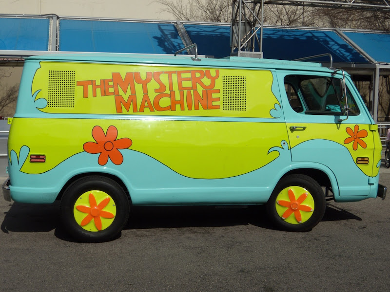 Mystery Machine van Universal Studios Hollywood