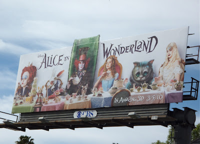 Alice in Wonderland tea party film billboard