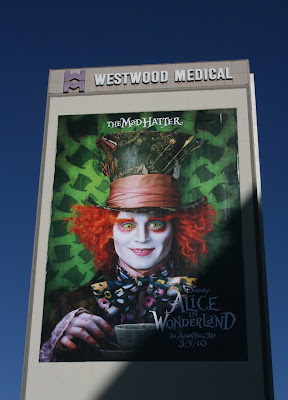 Mad Hatter Alice in Wonderland billboard