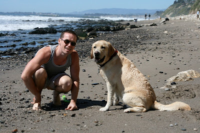 Jason and Cooper in Santa Barbara